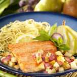Salmon Fillets with Pears