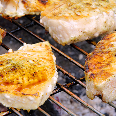 Grilled Halibut with Mango