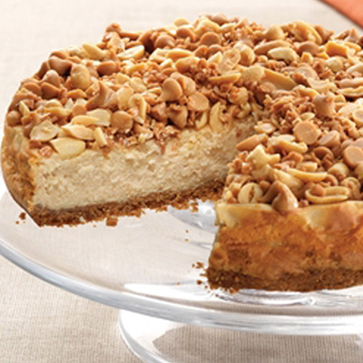 Peanut Butter Toffee Crunch Cheesecake