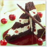 Cherry Chocolate Ice Cream Cake