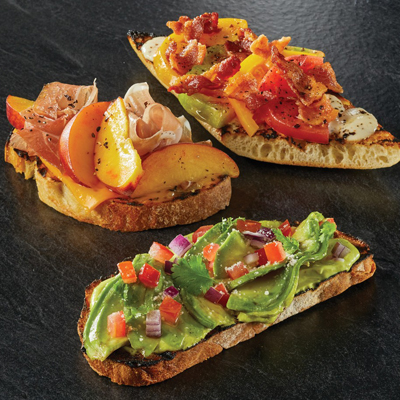 Grilled Toast with Curried, Avocado Spread