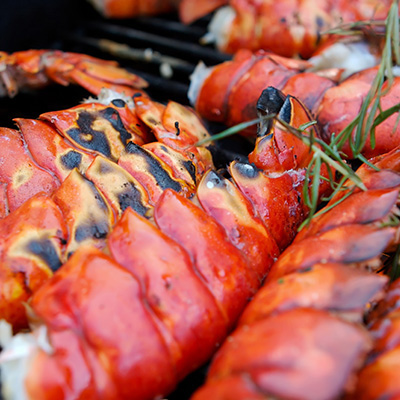 Barbecued Lobsters with Lime