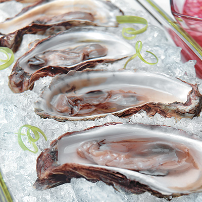 Oysters on the Half Shell with Shallot and Wine Vinegar Dressing