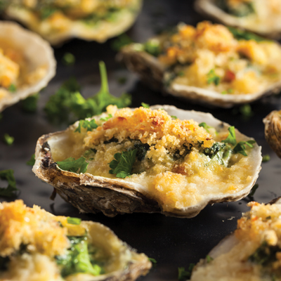 Rockefeller-style oysters