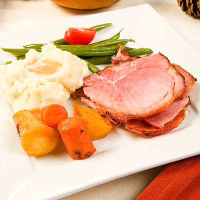 Ham with Apple-Cranberry Sauce