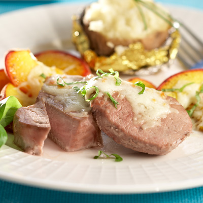 Cheese and Apple Pork Medallions