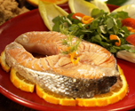 Orange and Dill Salmon Steaks in Foil