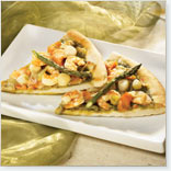 Goat Cheese and Seafood Pizza