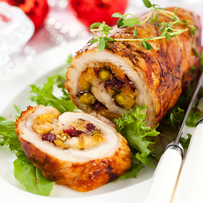 Turkey Breast with Prune and Apricot Stuffing