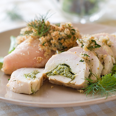 Chicken Breasts Stuffed with Ham and Pesto