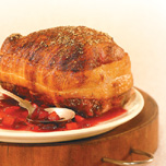Roast Pork with Pears and Cranberries