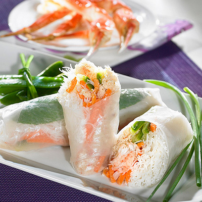 Crab Spring Rolls with Citrus Sauce