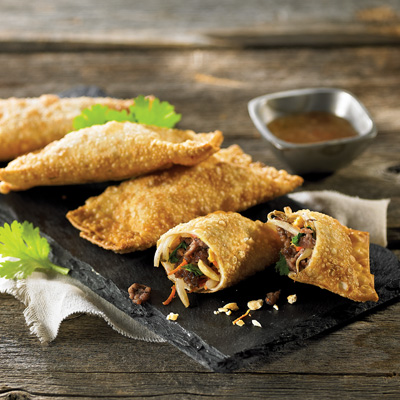 Vegetables and Beef- Mini Egg Rolls