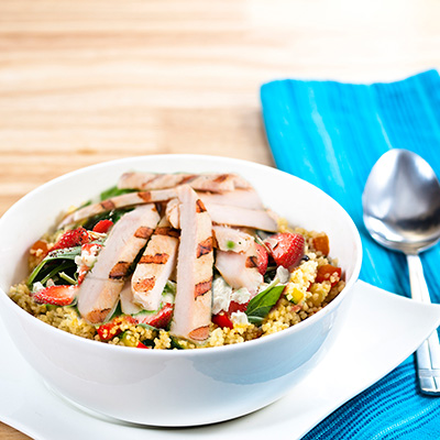Grilled Chicken and Strawberry Couscous Salad
