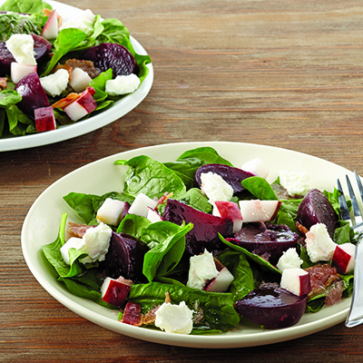 Roasted Beet, Spinach and Apple Salad