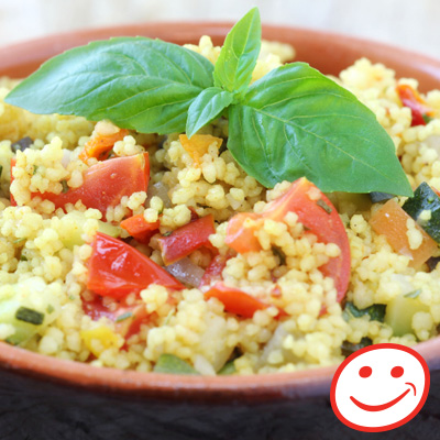 Bulgur, Chicken, Corn and Pepper Salad