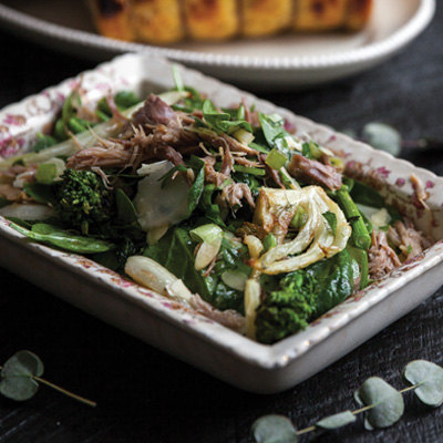 Rapini, Fennel, and Duck Confit Salad