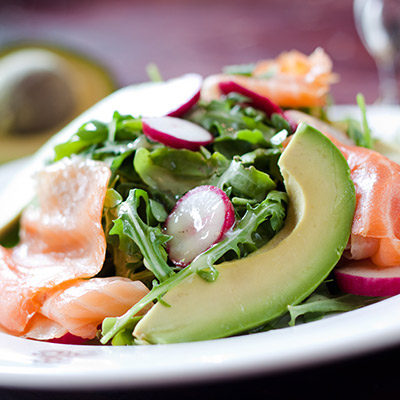 Persimmon, Pomelo and Smoked Salmon Salad