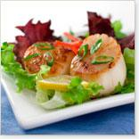Hot Fruit and Scallop Salad