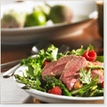 Duck Breast and Asparagus Salad with Raspberry Dressing