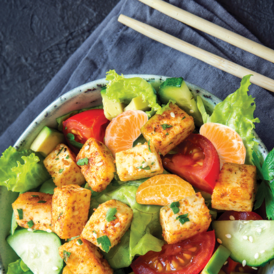 Clementines, Vegetables and  Tofu Salad