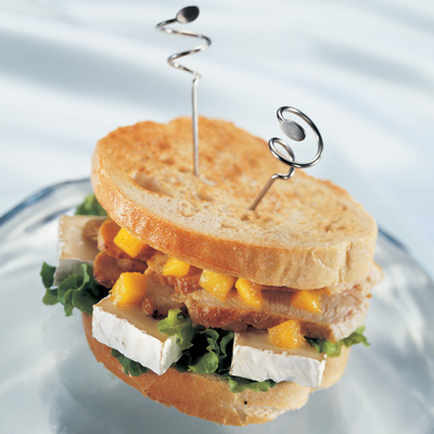 Curried Grilled Turkey and Camembert Sandwiches