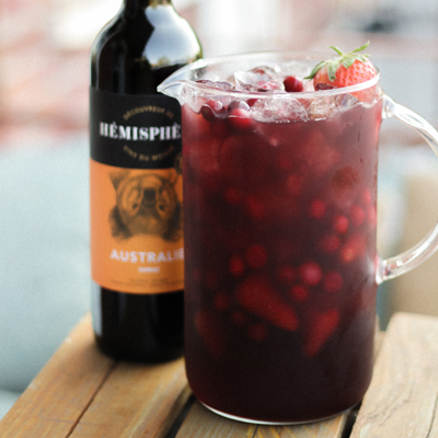 Strawberry and Hibiscus Red Sangria