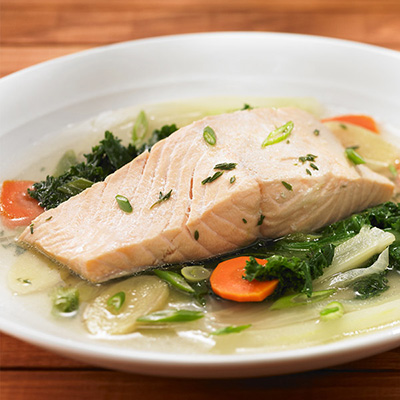 Fennel-Ginger Poached Salmon