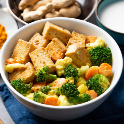 Vegetable, Clementine and Tofu Stir-fry