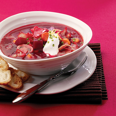 Beet, Cabbage and Mushroom Soup
