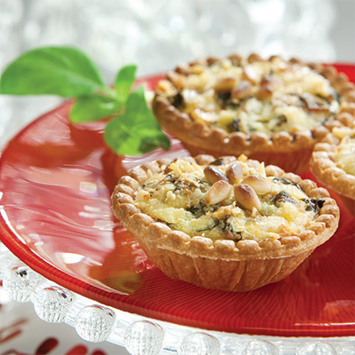 Swiss Chard and Pancetta Tarts